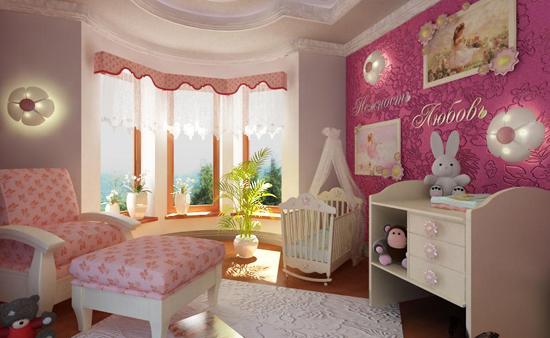 Детская комната, совмещенная с балконом