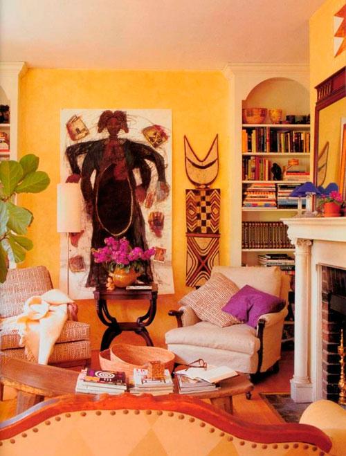 Гостиная в африканском стиле