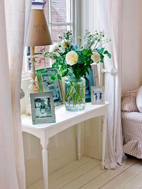 Льняные белые шторы в интерьере