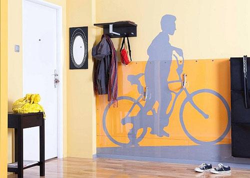 Как оригинально вписать велосипед в интерьер