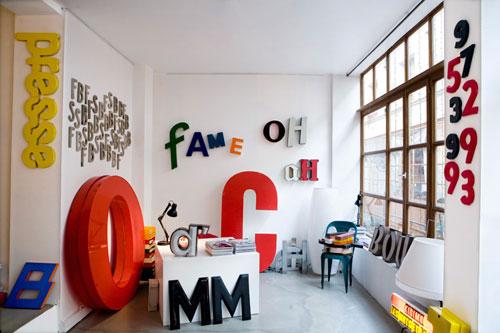 Объемные буквы в интерьере