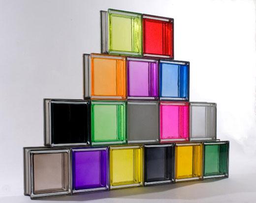 Цветные стеклоблоки ( фото)