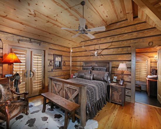 Отделка стен деревом в интерьере спальни
