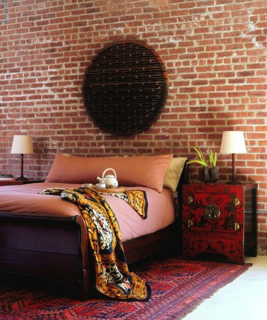 красивая спальня в винтажном стиле фото