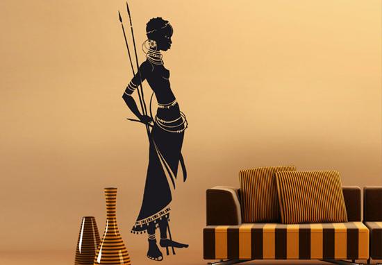 Декоративные наклейки в гостиной