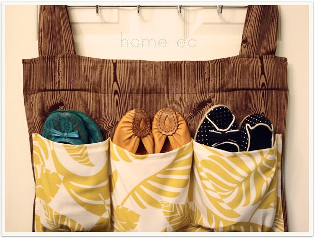 Текстильный органайзер для обуви