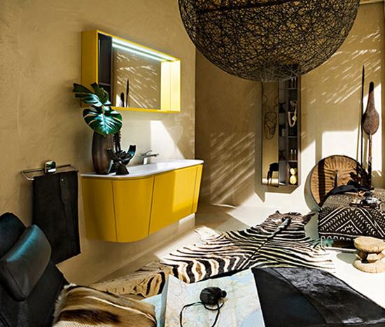Аксессуары в ванной комнате в африканском стиле