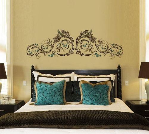 Трафареты для спальни в виде изголовья кровати