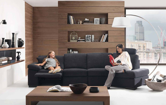 Пример расстановки мебели в гостиной комнате