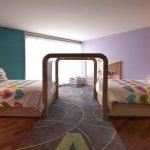 Фото 157: Арка между кроватями в детской для двух детей