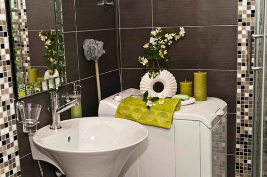 Композиции из сухоцветов в ванной комнате