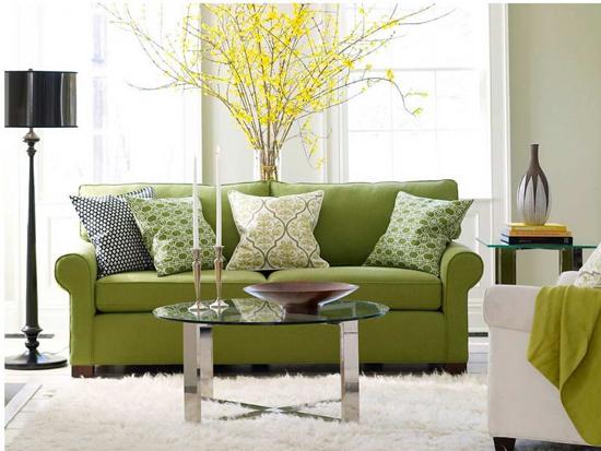 Декоративные диванные подушки в интерьере гостиной