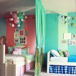 Фото 28: Разделение комнаты шторой для двоих разнополых детей