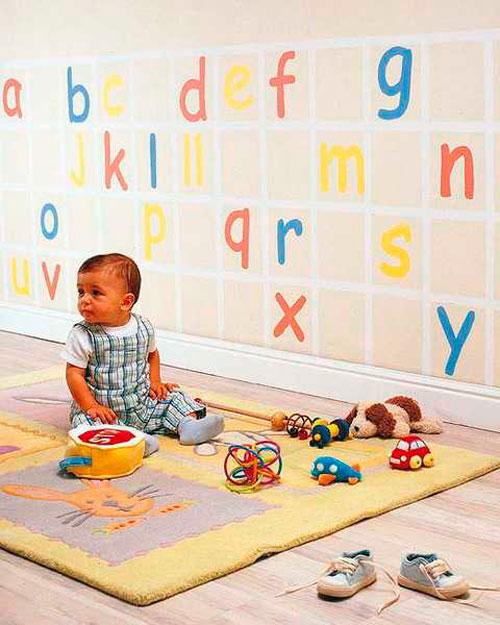 Трафареты для детской комнаты в виде букв