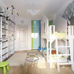 Фото 135: Планировка детской комнаты для двоих детей фото