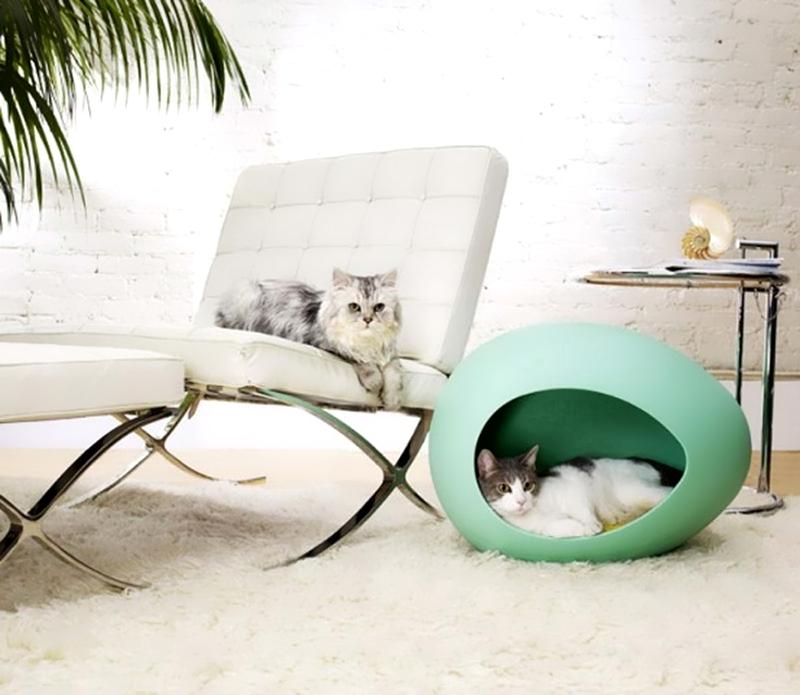 Домик для кошек в интерьере