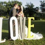 Фото 53: Деревянные объемные буквы для свадьбы