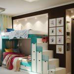 Фото 60: Двухэтажная мебель для двойняшек
