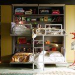 Фото 83: Расположение шкафов и кроватей для двух детей