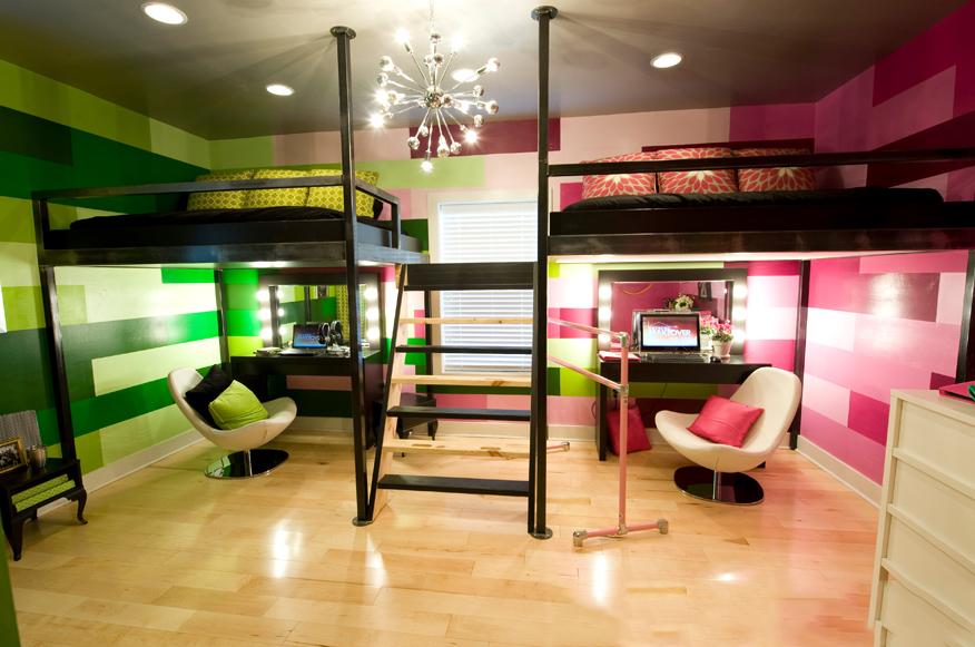 детская комната для двоих детей фото