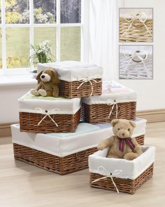 Плетеные корзины в детской