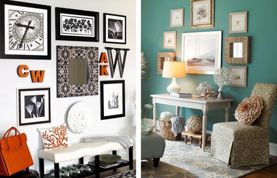 Отделка и декор стен в гостиной