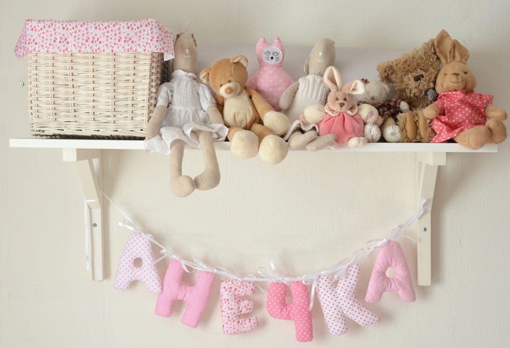Текстильные объемные буквы в детской