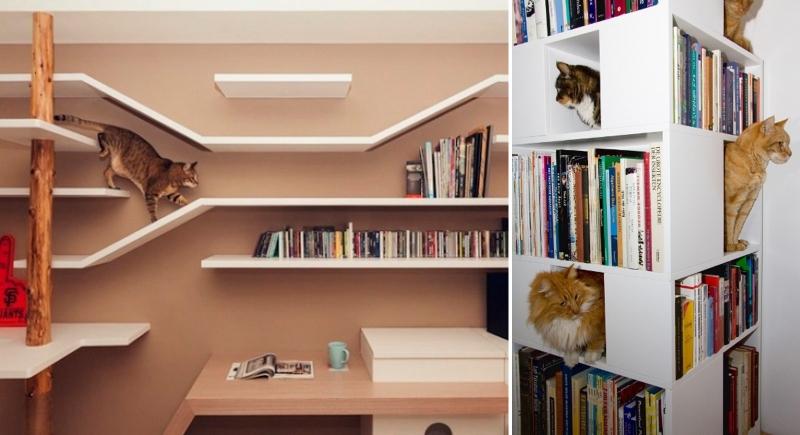 Книжные полки для кошек