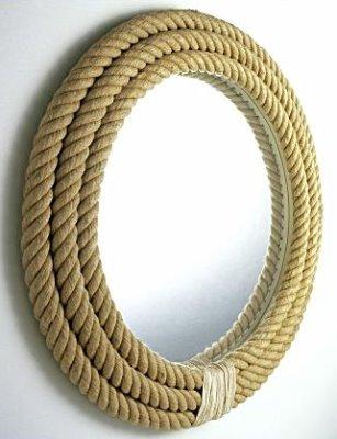 Зеркало в оплетке из веревки