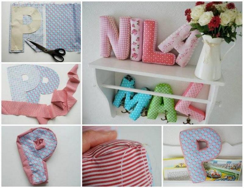 Изготовление буквы из текстиля