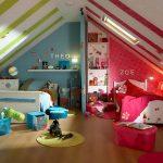 Фото 30: Цветовое зонирование детской комнаты для двоих разнополых детей