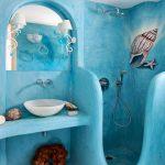 Фото 32: Яркий цвет в ванной в интерьере и дизайн формы