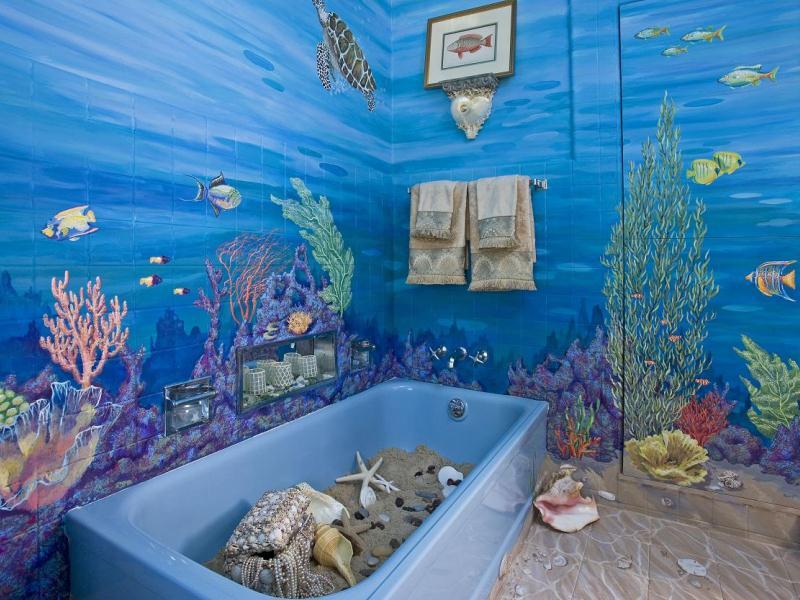 Роспись стен в ванной
