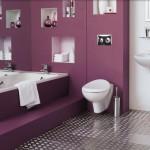 Фото 7: Ванная в фиолетово-пурпурном цвете