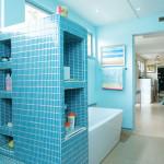 Фото 6: Голубой цвет в ванной комнате