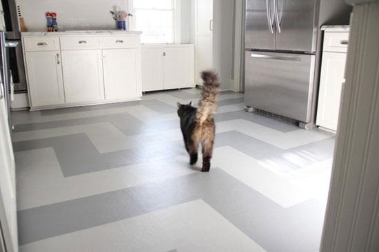 Виниловый водостойкий ламинат в интерьере кухни