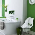 Фото 2: Зеленая ванная комната