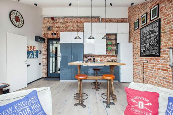 Зона кухни в совмещенной кухне-гостиной