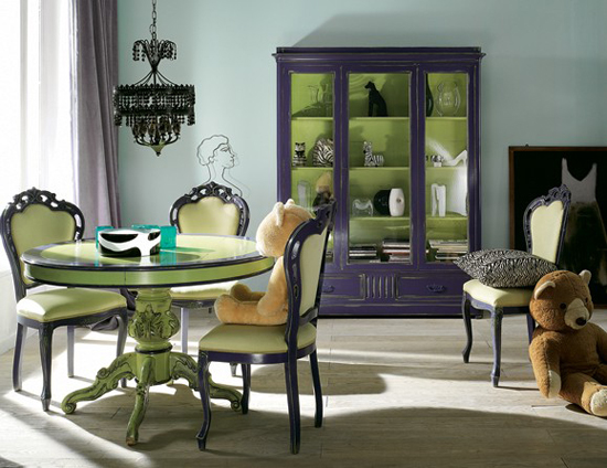 Фисташковый цвет в гостиной