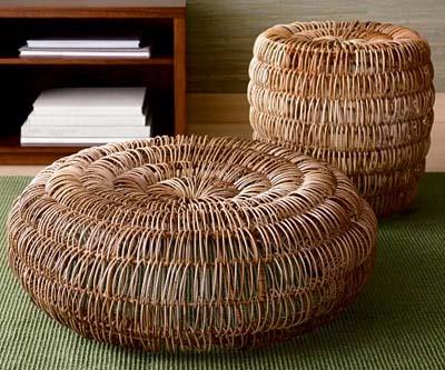 Плетеная мебель из лозы в интерьере