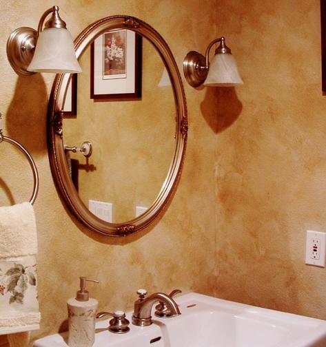 Декоративная окраска стен в интерьере