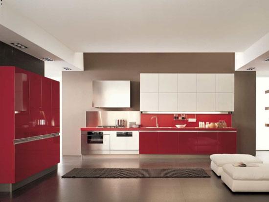 Красно-белые интерьеры в стиле минимализм