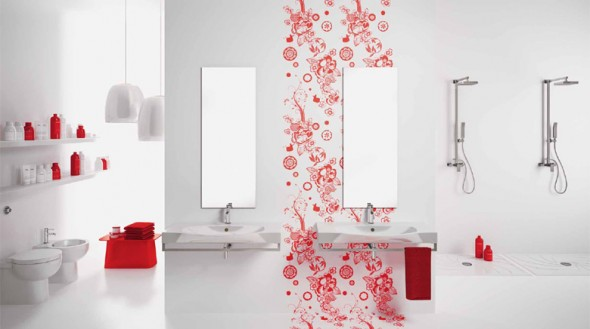 Stunning-and-Awesome-white-Themed-Bathroom-Concept-with-Fabulous-Red-Sticker-590x329