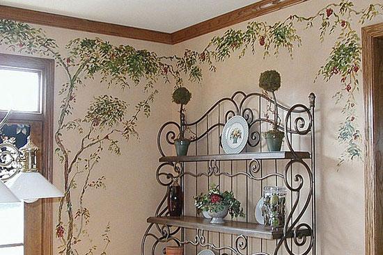 Декоративное окрашивание - художественная роспись стен