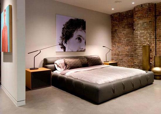 Интерьер мужской спальни