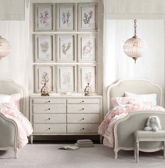 Детские комнаты для двух девочек