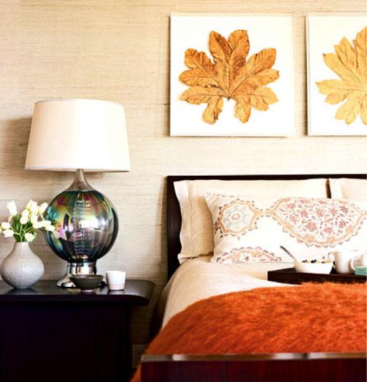 Цвет обоев в спальне фото