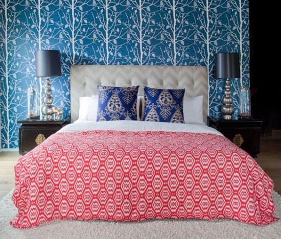 Цвет обоев в спальне
