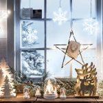 Фото 64: Декорация из натуральных материалов с подсветкой на окне