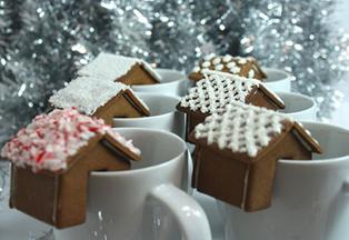 Рождественские домики своими руками из печенья
